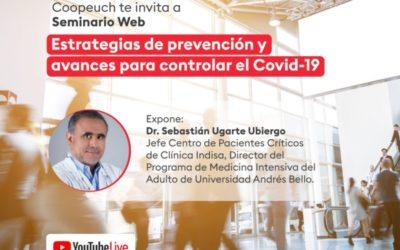 Coopeuch organiza seminario web sobre Covid-19 con el Dr. Sebastián Ugarte
