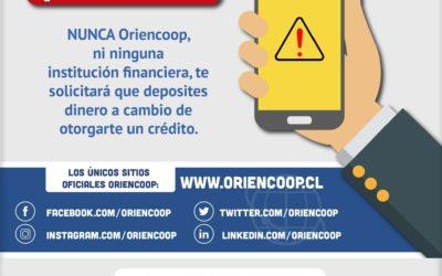 Oriencoop educa a sus socios para prevenir fraudes digitales