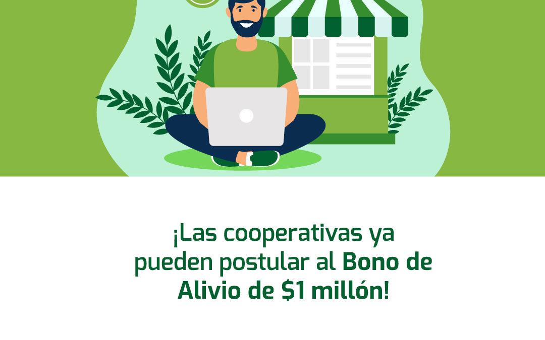 Las cooperativas ya pueden postular a Bono de Alivio de $1 millón