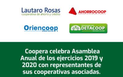 Coopera realiza Asamblea Anual de los ejercicios 2019 y 2020